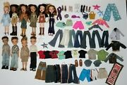 Lot Of 10 Bratz Dolls Clothes, Shoes And Some Accessories