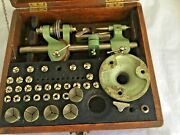 Watchmakers Lathe Pultra 8mm D Bed Lathe And 32 Collets In Original Box