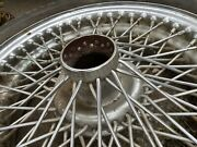 Vintage Mg Jaguar Set Of 4 Original Wire Wheels 15x4 With Michelin Zx Asis