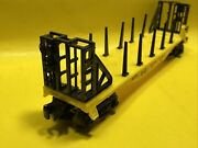 Lionel New York Central Flat Car With Stakes And Bulkheads Blt1-93 Great Vintage.