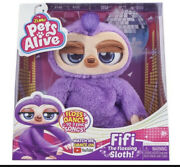 Pets Alive Fifi The Flossing Sloth Battery-powered Dancing Robotic Toy New