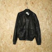 Gas Zip Up Leather Jacket Black Small S