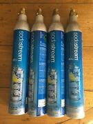 Sodastream Co2 Carbonator Refill Reusable Cylinders Up T0 60l Lot Of 4 Empty