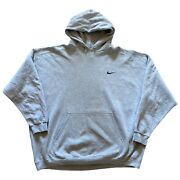 Vintage Nike Essentail Gray Hoodie Pullover Sweatshirt Menand039s 2xl 90and039s