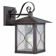 Nuvo 60-5613 Vega 1 Light 11 In. Outdoor Wall Fixture Clear Seed Glass Cl