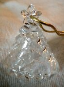 Mikasa Christmas Tree Bell Crystal Ornament 3 High 2 1/2 Widesparkles In Sun