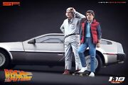 118 Back To The Future Figurines Doc And Marty No Car For Diecast Collectors