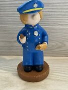 Vintage Annand039s Original Figurines Inc 1977 2144 Police Officer Figurine 10and039and039