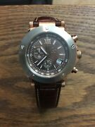 Guess Collection Mint Condition Swiss Made Rose Gold Watch With Leather Strap
