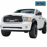 Eag Stainless Steel Mesh Grille Fit For 13-18 Dodge Ram 1500 W/led Light