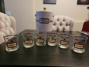 Vintage Complete Whiskey Cora Cera Name Your Poison Ice Bucket And Glasses Set