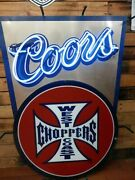 Rare Coors Brewing West Coast Choppers Neon Bar Sign 38 X 26 In - Local Pickup