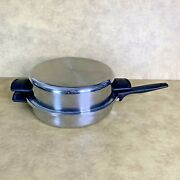 Vintage Prudential Ware Ekco Ss-304 Stainless 11 Skillet Fry Pan Usa Euc + Lid