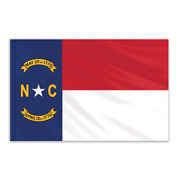 Global Flags Unlimited 200515f North Carolina Indoor Nylon Flag 5'x8' With Gold