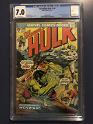 Incredible Hulk 180 Cgc 7.0 1st Wolverine In Cameo New Case
