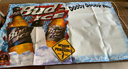 Vintage 90andrsquos Bud Ice Beware The Penguins 3andrsquo X 5andrsquo Vinyl Banner Dooby Dooby Doo
