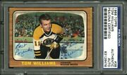 1966 Topps 38 Tommy Williams Psa/dna Autographed Signed High Quality Hockey Card