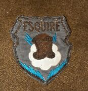 Esquire Knight Lightning Unknown Wwii Period Bullion Theater Patch Badge Estate