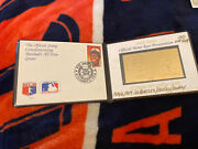 Hank Aaron, Extremely Rare Commemorative 23k Gold Stamp/ First Day Issue Stamp