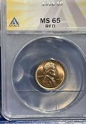 1918 Lincoln Wheat Cent Ms65 Red Anacs Graded 724