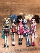 Monster High Doll Lot Many Have Earrings Shoes Clothes Lot Of 5 2008 And 2010