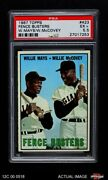 1967 Topps 423 Willie Mays / Willie Mccovey - Fence Buster Giants Psa 5.5 - Ex+
