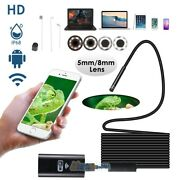 16ft 8led Wifi Borescope Endoscope Snake Hd Inspection Camera For Iphone Android