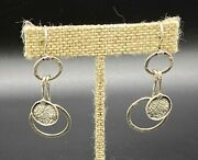 Silpada-sterling Silver Oxidized Hammered Circle Disc Dangle Drop Earrings W1549
