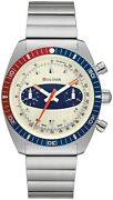 Brand New Bulova Limited Edition Surfboard Chrono Stainless Steel Watch 98a251