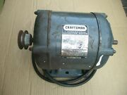Sears Craftsman 1 Hp 115/230 V Dual Shaft Motor 113.19021 Table Saw Jointer Etc.