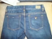 Guess Daredevil Boot Cut Jeans Women's Size 30 Stretch Low Rise Dark Wash