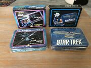 Star Trek Playing Cards Lot Of 2- Tos And Tng Sealed Metal Tin Enesco 1992 Cards