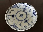 1924 -1934 Royal Copenhagen Blue Fluted Half Lace Saucer 756 First Quality