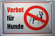 Prohibition For Dogs Metal Tin Plate Sign Tin Sign 7 7/8x11 13/16in