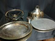 The Drake Chicago Hotel Antique Chafing Dish Art Deco 1920s-30s Silverplate