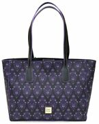 New Disney Dooney And Bourke Haunted Mansion Wallpaper Purple Tote Bag Large Purse