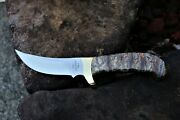 Leroy Remer Buck 401 Kalinga Exotic Tooth With Sheath Knife Knives