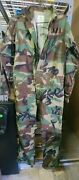 Military Woodland Camo Mechanics Cold Weather Coveralls Green Menand039s Size Med