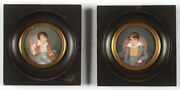 Portraits Of Two Little Brothers Two French Miniatures 1815/20