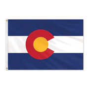 Global Flags Unlimited 200145 Colorado Outdoor Nylon Flag 6and039x10and039