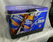 Bud Light Football 50qt Steel Belted Cooler New Old Stock