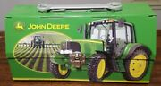John Deere Tractor Small Metal Lunch Pail Or Tool Box The Tin Box Company New