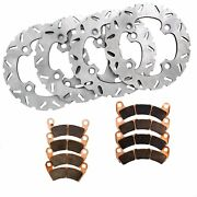Front And Rear Riptide Rotors And Mudrat Brake Pads 2016 Polaris 1000 Rzr Xp 4 Turbo