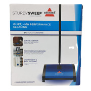 Bissell Sturdy Sweep Carpet And Floor Manual Sweeper 5232v Multi Surface Quiet New