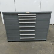 Equipto 8 Drawer Industrial Parts Tool Storage Shop Cabinet 60w X 28d X 44h