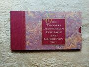1993 Thomas Jefferson Coinage And Currency Set Rare Star 🌟 Note 📝 C 00569134