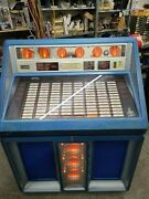 Rowe Ami R-91 Jukebox Vinyl Coin Operated Blue 200 Selections Arcade 09