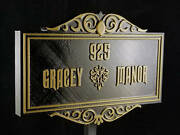 10 Personalized Haunted Mansion Inspired Address Sign Prop / Plaque Replica