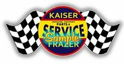 Kaiser Frazer Cars Dealer Service T-shirts With Racing Flags Signs Decals