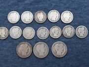 Silver Barber Quarters And Half Dollars Nice Lot 1800's And 1900's Take A Look